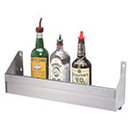 "Advance Tabco SRK-8 96"" Single Tier Bottle Rack w/ Keyhole, Stainless"
