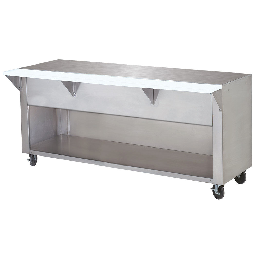 "Advance Tabco STU-4-BS Solid Top Table, Cabinet Base w/ Open Undershelf, 62-3/8"", Stainless"