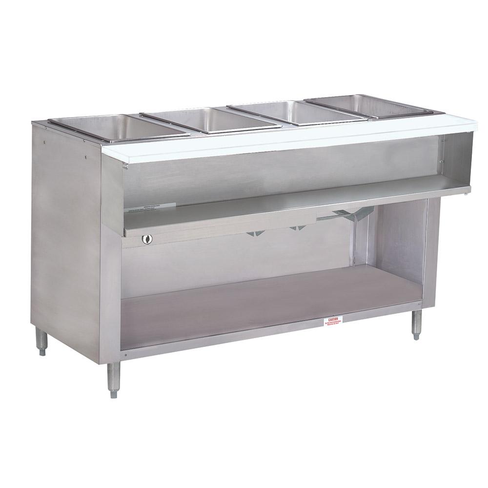 "Advance Tabco WB4GNATBS 62.4"" Water Bath Hot Food Table w/ 4-Opening, Open Base, NG"