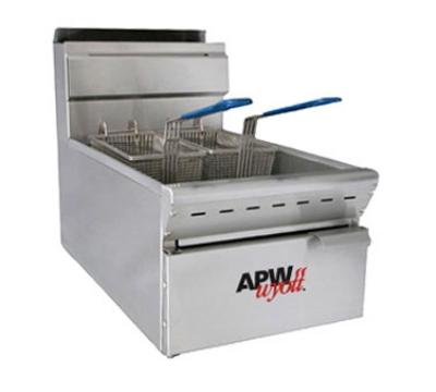 APW APWF-25C Countertop Gas Fryer - (1) 25-lb Vat, NG