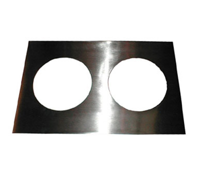 APW 14883 Adapter Plate, Two 8-1/2 in dia. Holes, To Convert 12x20 Openings