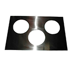 APW 14886 Adapter Plate, Three 6-1/2 in dia. Holes, To Convert 12x20 Openings
