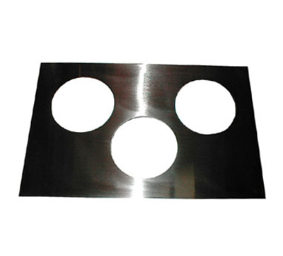 "APW 14886 Adapter Plate, Three 6-1/2""dia. Holes, To Convert 12x20 Openings"