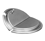 APW Wyott 23790 Cover, for Inset, slotted hinged s/s, fits 11 qt size pot, w/ clips