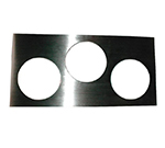 A P W Wyott 56638 Adapter Plate, with three 7 qt. inset holes, model W-43V warmer