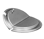 APW Wyott 56847 Cover, for Inset, slotted hinged s/s, fits 4 quart size pot, w/ clips