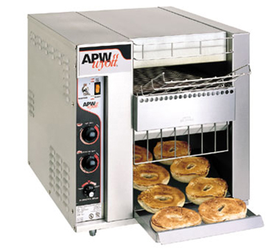 APW BT-15-2 BagelMaster Conveyor Toaster, 1440 Halves/Hr, 2 In Opening, 208 V, UL