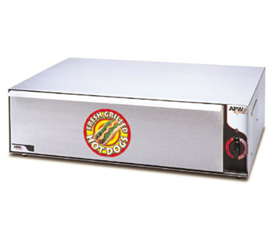 APW BW-50 One Drawer Roll Warmer 96 Bun Capacity Stainless 120 V Restaurant Supply