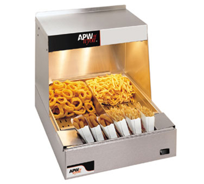 APW Wyott CFHS-16 16 in Fry Station, Ceramic Top Heaters, (2) Coated Bulbs, 120 V