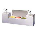 APW Wyott CSS-DTS-2 Condiment Dispenser Station, 1-Gallon End Pumps & 3-Center Pans