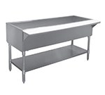 APW Wyott CT-2S 33-in Stationary Cold Well Table w/ Stainless Legs & Undershelf
