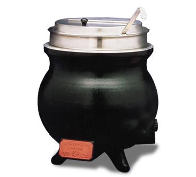 APW CWK-1 PKG 11-qt Soup Cooker w/ 4-oz Ladle, Heavy Duty Aluminum, Export