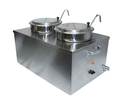 APW CWM-2SP Food Cooker Warmer, Full Size, Double Bowl, 22 Qt., Soup Pack
