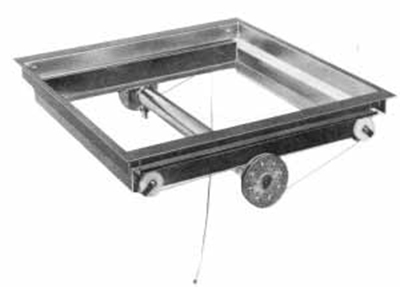 "APW DI-2020 Drop In Tray Dispenser for 20 x 20"" Trays, Stainless"