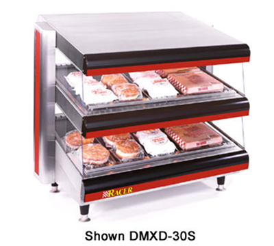 APW DMXD-42H 42 in Racer Horizontal Merchandiser/Warmer 2 Shelf Restaurant Supply