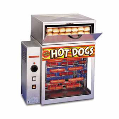 APW DR-1A Rotisserie Hot Dog Broiler, Cradle, 150-Franks/Hr, 120 V