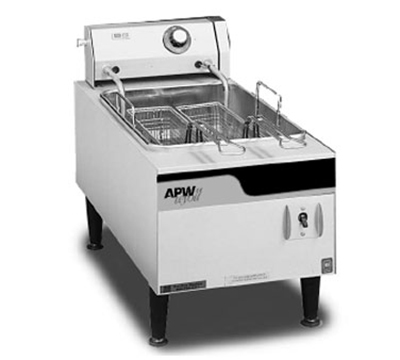 APW EF-15IN Countertop Electric Fryer - (1) 15-lb Vat, 240v/1ph