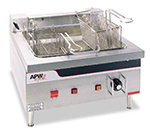 APW EF-30INT Countertop Electric Fryer - (2) 15-lb Vat, 208v/3ph