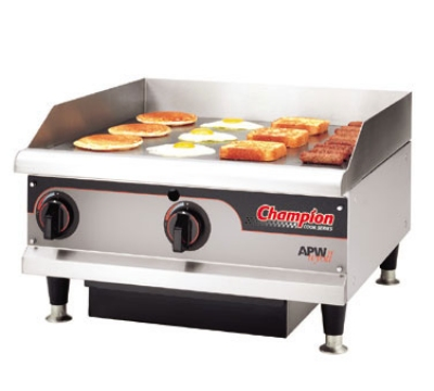 APW Wyott EG-48H 240 48 in Griddle w/ 3/4 in Steel Plate & Thermostatic Control 240 V Restaurant Supply