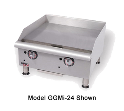 "APW GGM-24I 24"" Gas Griddle - Manual, 1"" Steel Plate, NG"