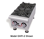 APW GHPW-2I 2-Burner Hot Plate - Manual Control, Stainless, NG