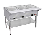 APW GST-4-NG 4-Well Steam Table, Stainless Liner w/ Coated Legs & Undershelf, NG