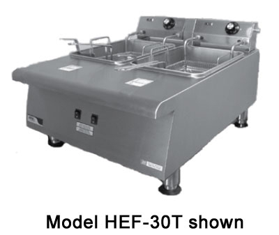 APW HEF-15SI Countertop Electric Fryer - (1) 15-lb Vat, 208v/1ph