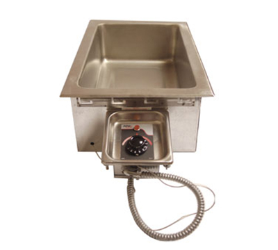 APW HFW-1D Drop-In Insulated Hot Food Well Unit, Wet or Dry, Drain, 208 V