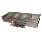 APW HFW-5D 5-Pan Drop In Hot Food Well, Drain, 208v/1ph