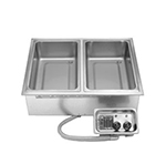 "APW HFW-2D Drop In Hot Food Well Unit for (2) 12x20"" Pan, Wet or Dry, 208v/1ph"