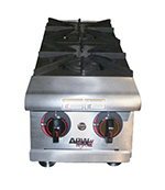 APW Wyott HHPS-636 6-Burner Step-Up Hot Plate w/ Thermostatic Controls, LP