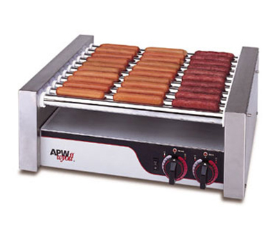 APW HR-20 20 Hot Dog Roller Grill - Flat Top, 120v
