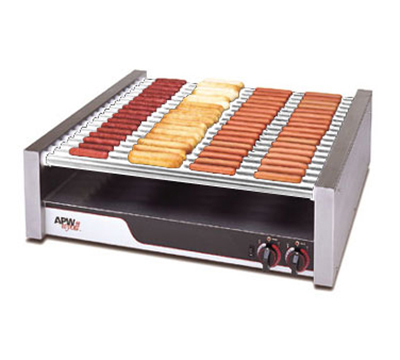 APW HR-85 75 Hot Dog Roller Grill - Flat Top, 240v