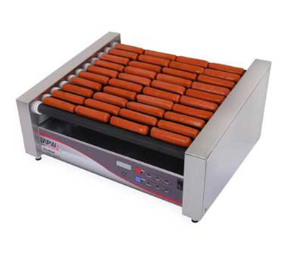 APW HRDI-50S 50 Hot Dog Roller Grill - Flat Top, 120v