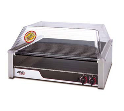 APW Wyott HRS-50 50 Hot Dog Roller Grill - Flat Top, 120v