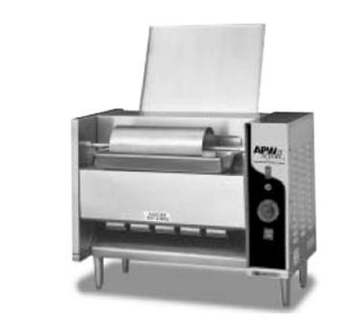 Apw Wyott M-95-3 Vertical Conveyor Bun Grill Toaster, 1300 Units/Hr, Stainless, 240 V