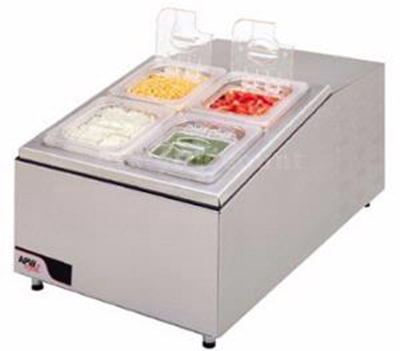"APW Wyott RTR-4DI 17"" Drop-In Refrigerator w/ (4) 1/6-Size Pan Capacity, Cold Wall Cooled, 120v"