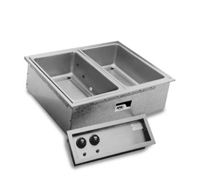 APW SHFWEZ-3D Drop-In Hot Food Well Unit w/ Drain & 3-Pan Size, 208/1 V