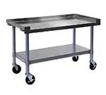 APW SSS-48L Heavy Duty Cookline Equipment Stand, 48 x 24 in D, 1 in Bullet Feet