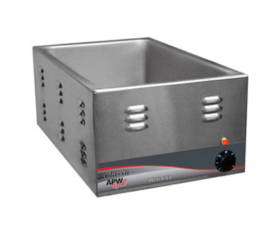 APW W-3VI Countertop Food Warmer w/ 1-Pan Capacity, Wet & Dry Operation, 240/1 V