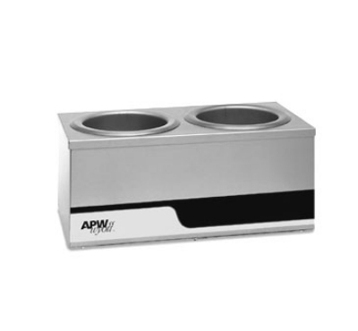 APW W4-2 Dual Warmer Holds (2) 4-qt Inset Pans, Individual Controls, 120 V