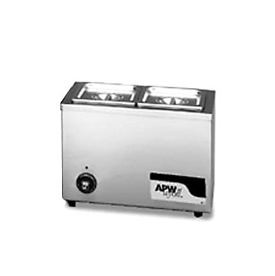 APW W-6 Food Warmer Holds 2/3-Size Pan, 120 V
