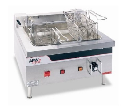 APW Wyott EF-30I Countertop Electric Fryer - (1) 30-lb Vat, 240v/3ph