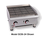 "APW GCB18ISP 18"" Radiant Charbroiler - Cast Iron Grate, 60,000-BTU, Safety Pilot, LP"