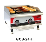"APW GCB-24I 24"" Radiant Charbroiler - Cast Iron Grates, 80,000-BTU, NG"