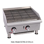 "APW GCRB-48I 48"" Gas Radiant Charbroiler w/ Cast Iron Grates, 4 Burners, NG"