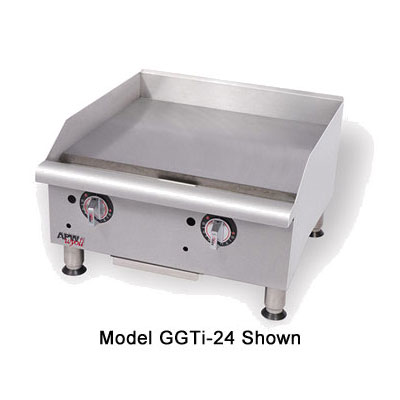 "APW GGT-24I 24"" Gas Griddle - Thermostatic, 1"" Steel Plate, LP"