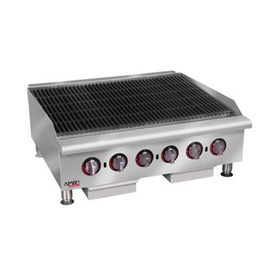 APW HCB-2436 36-in Radiant Char-Broiler w/ Cast Iron Grates, NG