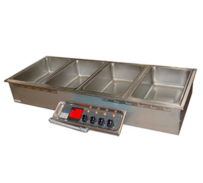 APW HFW-5D Drop-In Hot Food Well Unit w/ Drain & Manifold, 5-Pan Size, 208/240/3 V