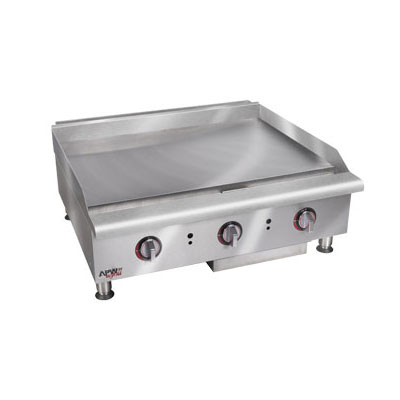 "APW HMG-2448 48"" Gas Griddle - Manual, 1"" Steel Plate, NG"